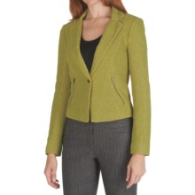 Anthracite Textured Jacket (For Women) in Chartruese - Closeouts