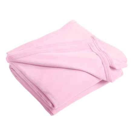 Anti-Static Microfleece Blanket - Twin in Ice Pink - 2nds