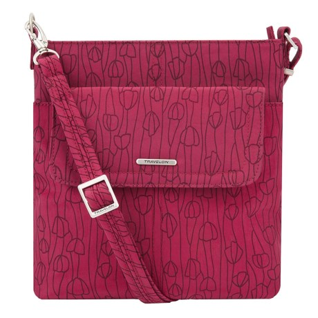 Image of Anti-Theft Crinkle Small Flap Crossbody Bag (For Women)