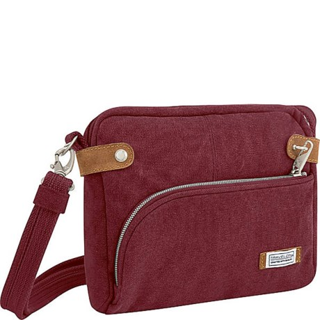 Image of Anti-Theft Heritage Canvas Crossbody Bag (For Women)