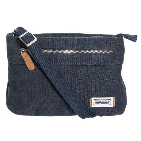 Image of Anti-Theft Heritage Canvas Crossbody Bag - Small (For Women)