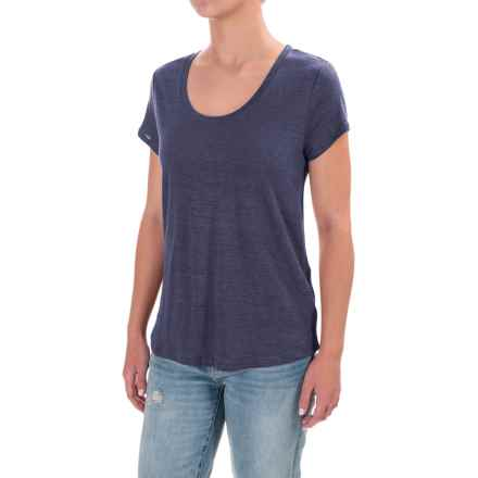 Antibes Blanc Button-Back Shirt - Linen, Short Sleeve (For Women) in Chalk Slate - Closeouts