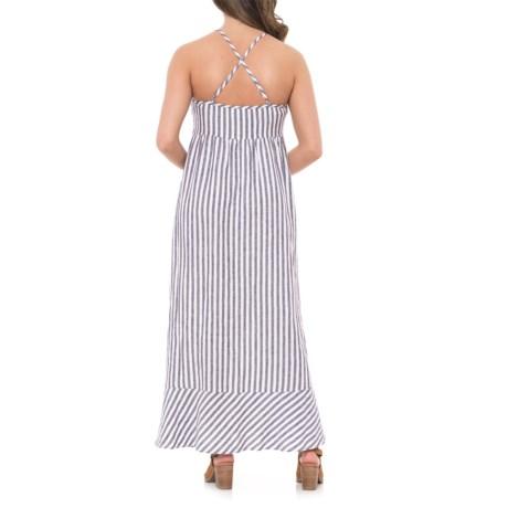998f7a2392 Antibes Blanc Seersucker Stripe Linen Maxi Dress - Sleeveless (For Women)