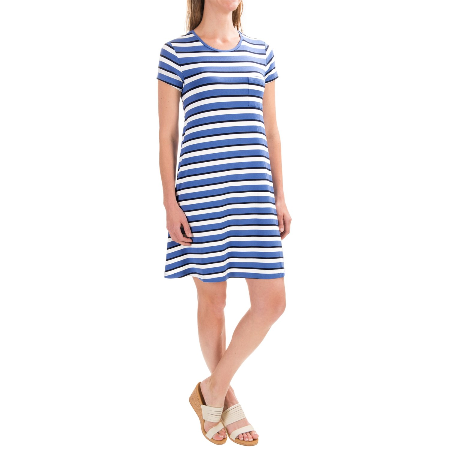 antibes blanc striped t shirt dress for women save 30. Black Bedroom Furniture Sets. Home Design Ideas