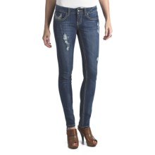 Antique Rivet Greta Skinny Jeans - Low Rise, Stretch (For Women) in Stardust - Closeouts