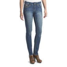 Antique Rivet Marlena Skinny Jeans - Mid Rise, Stretch (For Women) in Serenade - Closeouts