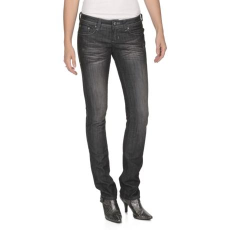 Antique Rivet Nala Jeans - Straight Leg, Low Rise (For Women) in Amp/Black