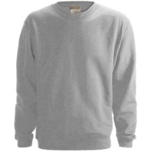 Anvil Fleece Sweatshirt - 8 oz. Organic Cotton (For Men and Women) in Grey Heather - 2nds