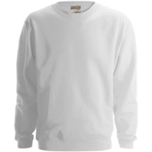 Anvil Fleece Sweatshirt - 8 oz. Organic Cotton (For Men and Women) in White - 2nds