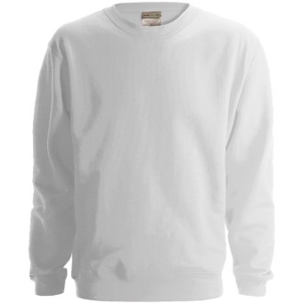 Anvil Fleece Sweatshirt - 8 oz. Organic Cotton (For Men and Women) in White