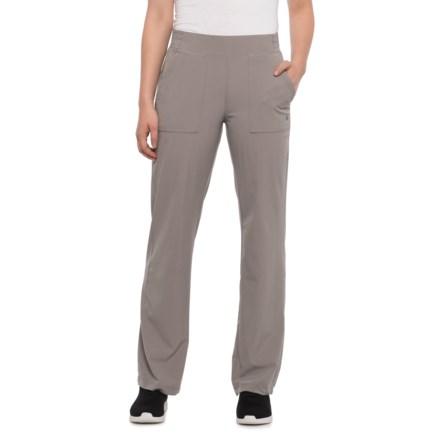 d3ce2f3e Apana Asphalt-Black Iris Woven Pants - Straight Leg (For Women) in Asphalt
