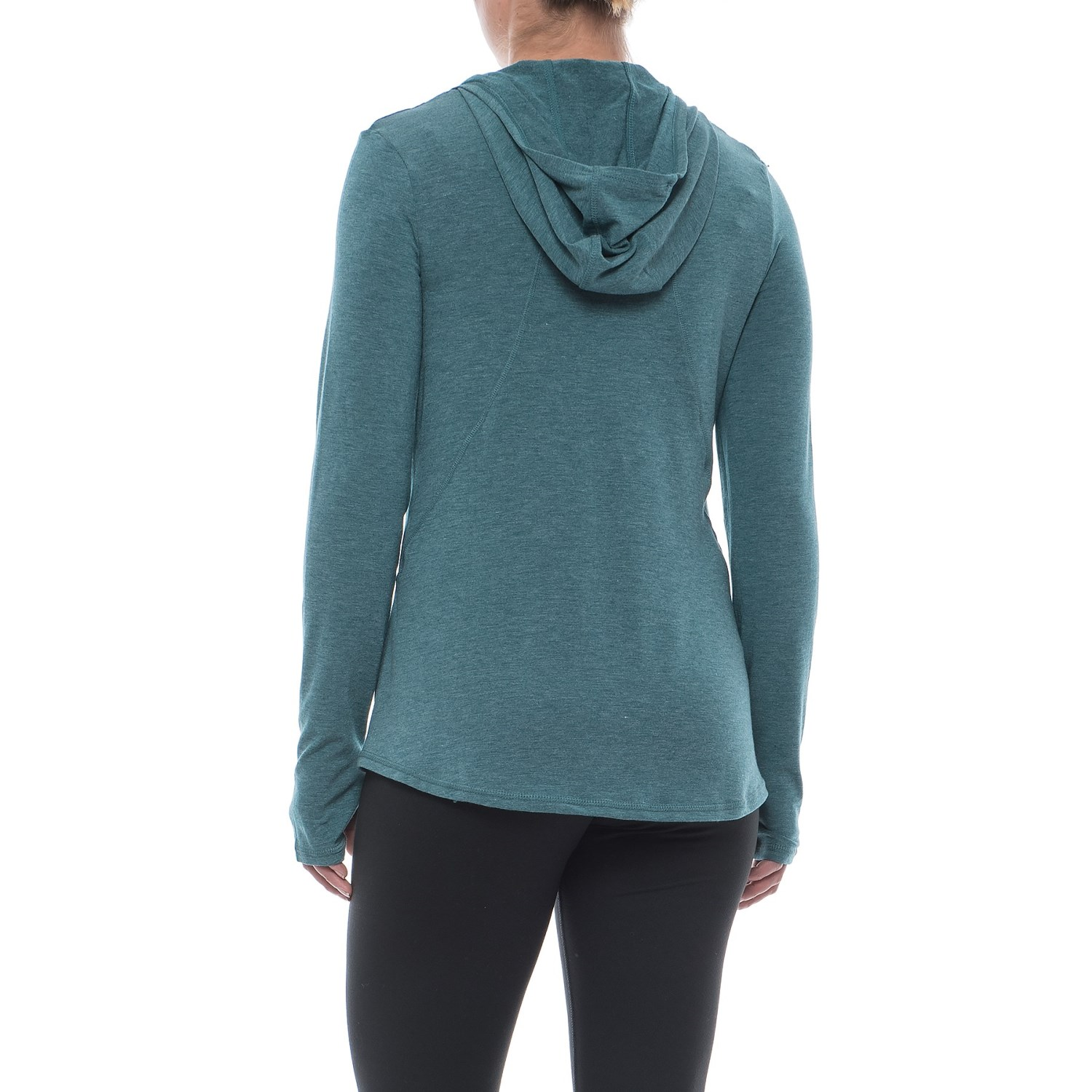 Apana Cowl Neck Hooded Shirt (For Women) - Save 65%