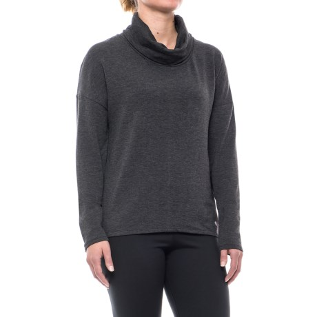 Apana Cowl Neck Shirt - Long Sleeve (For Women) in Rich Black Heather