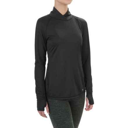 Apana Cross Collar Shirt - Long Sleeve (For Women) in Rich Black - Closeouts