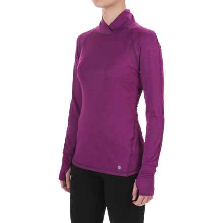 Apana Cross Collar Shirt - Long Sleeve (For Women) in Syrah - Closeouts