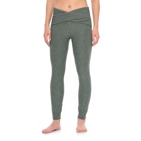 Apana Crossover Leggings (For Women) in Deep Balsam Green