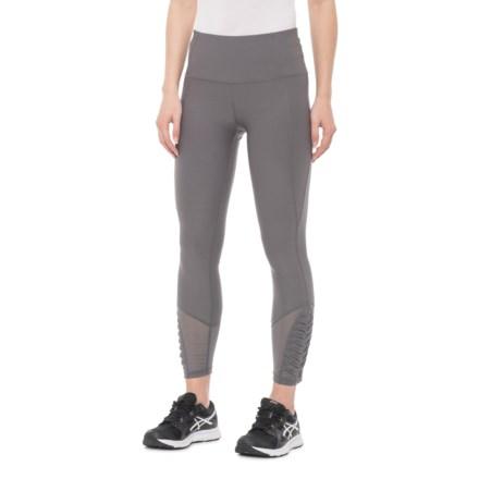 6a5a77f70e8fb Apana Foam Mesh Pleat Crop Leggings (For Women) in Sleek Grey