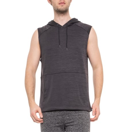 b3fefc7c82923 Apana French Terry Hoodie - Sleeveless (For Men) in Obsidian Heather