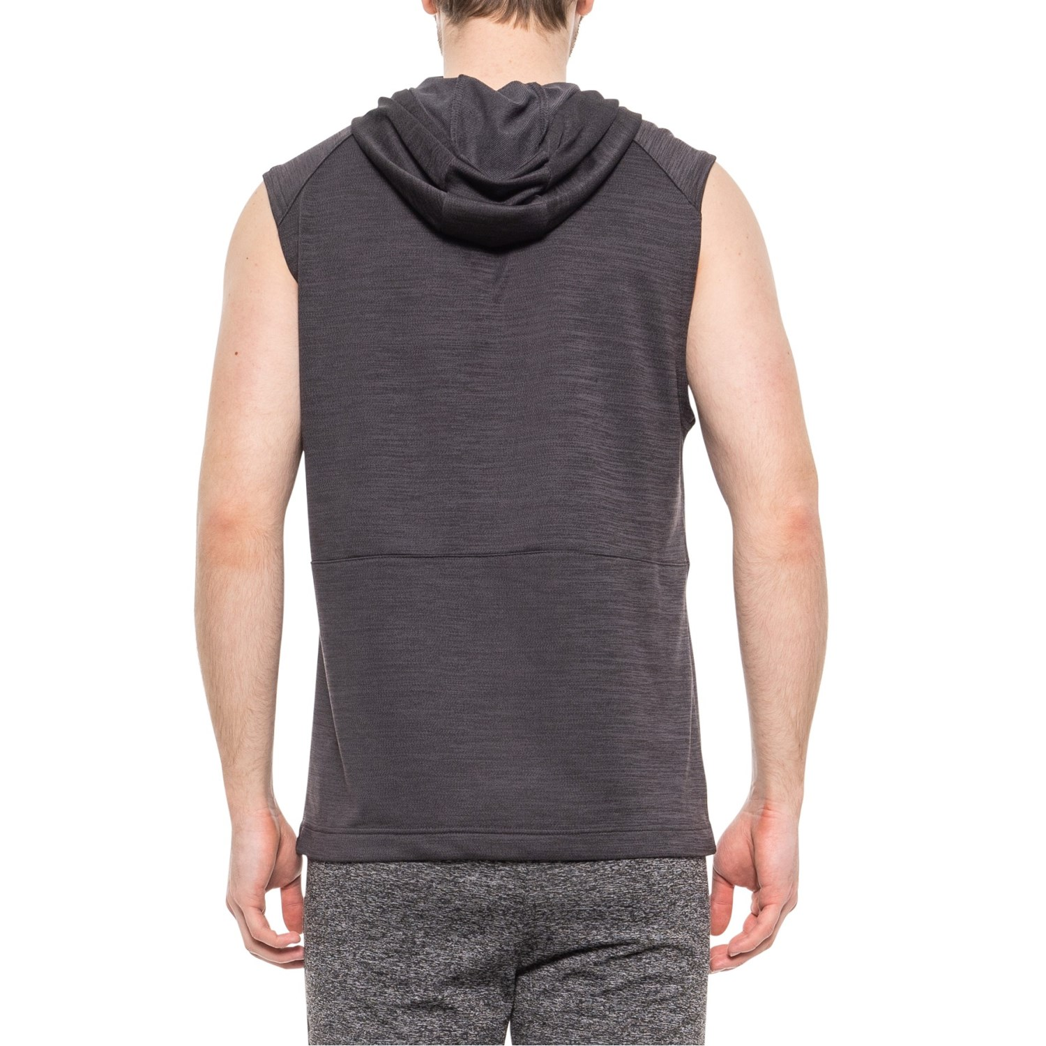 1b2a33cbeea81 ... Obsidian Heather 696MU_2 Apana French Terry Hoodie - Sleeveless (For  Men)