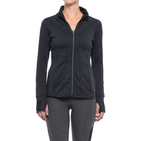 Apana Full-Zip Jacket (For Women) in Rich Black Combo