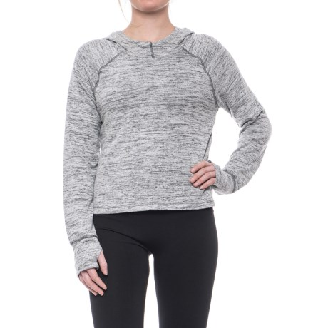 Apana Hooded High-Low Sweater (For Women) in Light Grey Heather