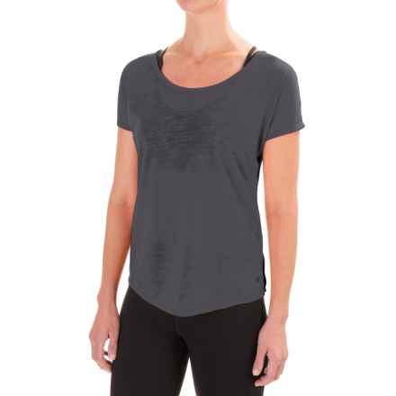 Apana Keyhole T-Shirt - Short Sleeve (For Women) in Greystone - Closeouts