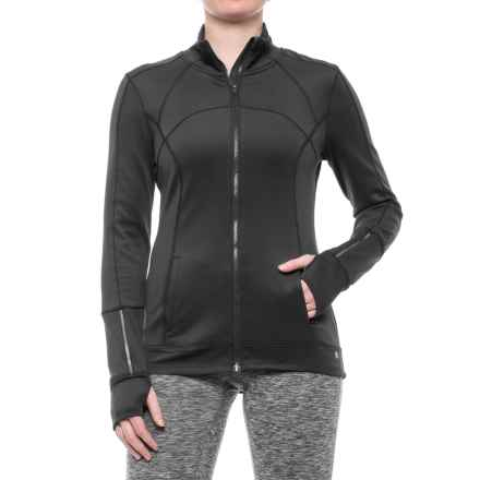 Apana Knit Jacket - Full Zip (For Women) in Rich Black - Closeouts