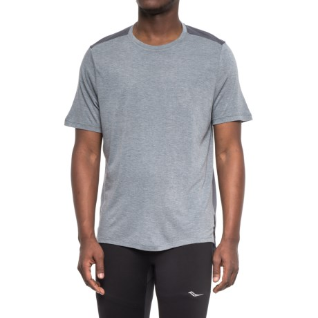 Apana Luxe Heather T-Shirt - Short Sleeve (For Men) in Dark Shadow Heather