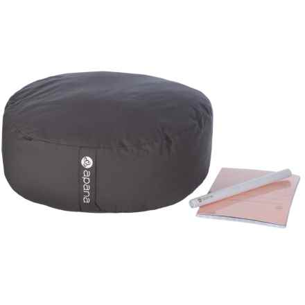 Apana Meditation Pillow, Journal and Incense Kit in Storm - Closeouts