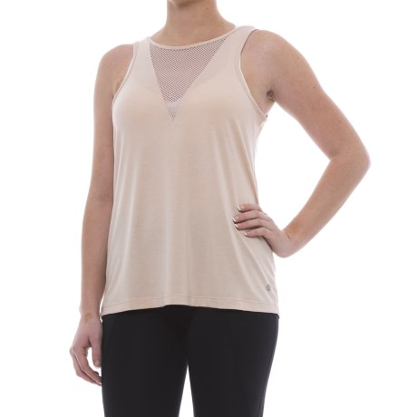 Apana Mesh-Front Tank Top (For Women) in Buff