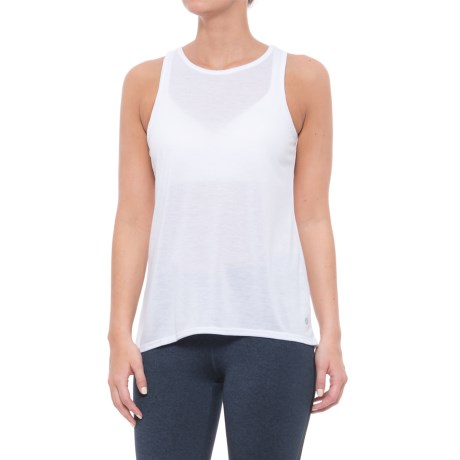 Apana Open Back Tank Top (For Women) in Arctic White