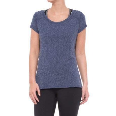 Apana Poly-Cotton Shirt - Short Sleeve (For Women) in Deep Indigo Heather