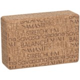 Apana Printed Cork Yoga Block - 3x5.75x9""
