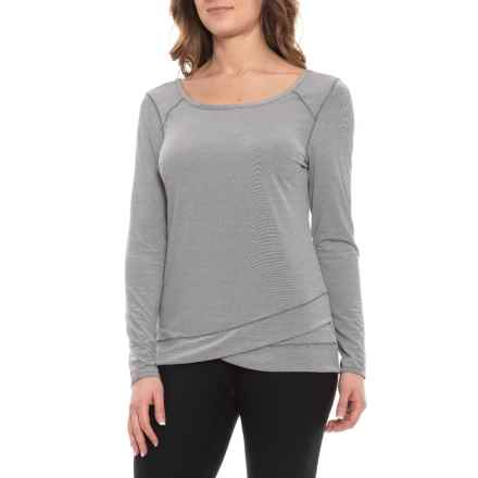 aa2371bbd Apana Scoop Neck Shirt - Long Sleeve (For Women) in Arctic White Black