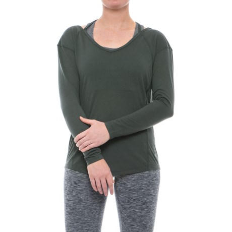 Apana Strappy Low-Back Shirt - Long Sleeve (For Women) in Jungle