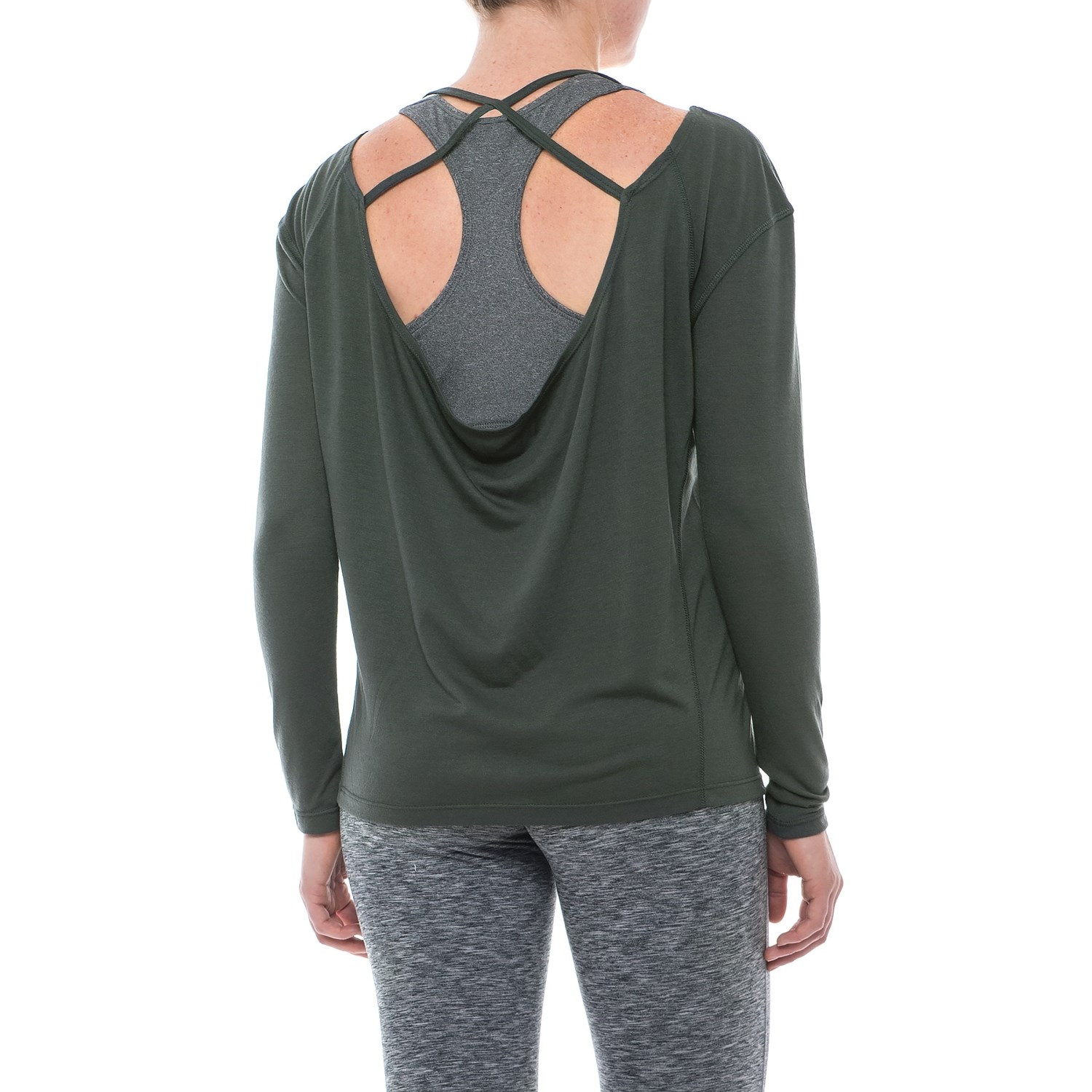 Apana strappy low back shirt for women save 50 for A long sleeve shirt
