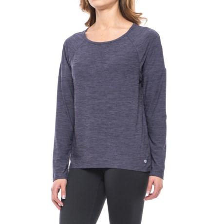 Apana Strappy Open-Back Shirt - Long Sleeve (For Women) in Dusky Dawn Stripe