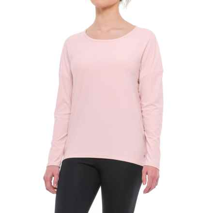 Apana Strappy Open-Back Shirt - Long Sleeve (For Women) in Rose Quartz Stripe - Closeouts
