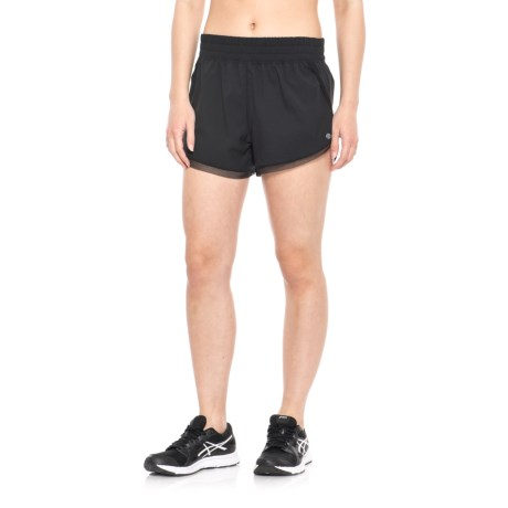 Apana Stretch Woven Shorts - Built-In Briefs (For Women) in Rich Black