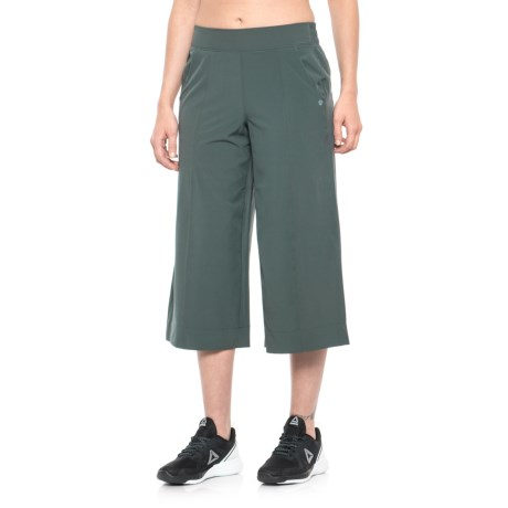 Apana Woven Culottes (For Women) in Jungle