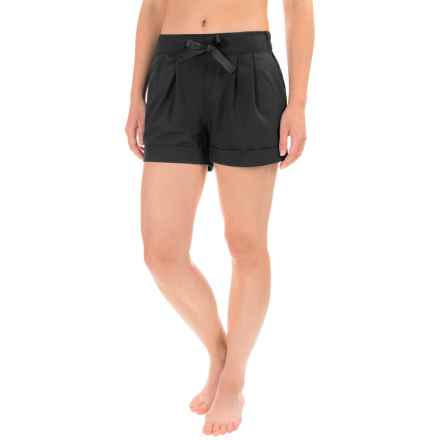 Apana Woven Yoga Shorts (For Women) in Rich Black - Closeouts
