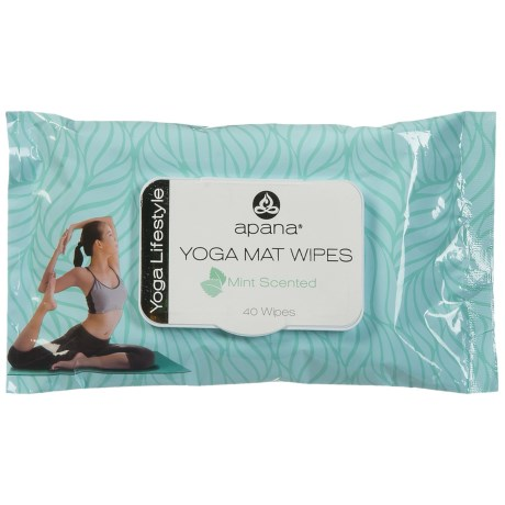Apana Yoga Mat Wipes in Aqua Verde