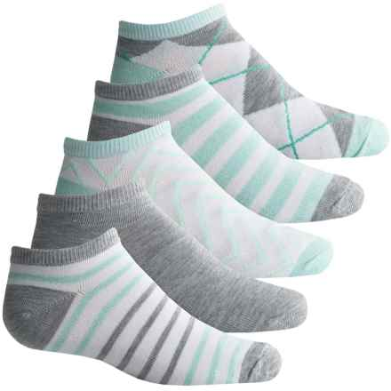Apara Glass Socks - 5-Pack, Below the Ankle (For Women) in White/Mint/Grey - Closeouts