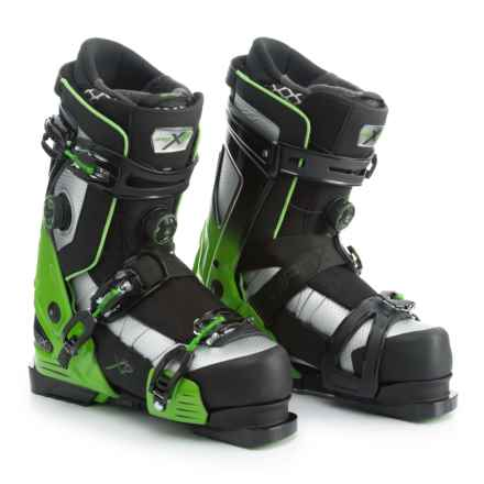 Apex XP Big Mountain Ski Boots - Insulated (For Men) in Black/Green - Closeouts