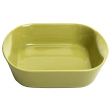 "Apilco Colorama Square Roasting Dish - French Porcelain, 9x9"" in Green - Closeouts"
