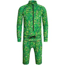 Apo Fuku One-Piece Snowsport Thermal Base Layer Suit - Long Sleeve (For Men) in Slime - Closeouts