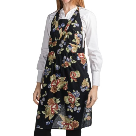 April Cornell Cotton Apron in Fall Fruit Black