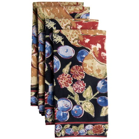 April Cornell Cotton Napkins - Set of 4 in Fall Fruit Black