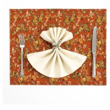 April Cornell Cotton Placemat in Daisy Rose Rust - Closeouts