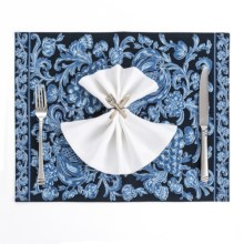 April Cornell Cotton Placemat in Vineyard Indigo - Closeouts
